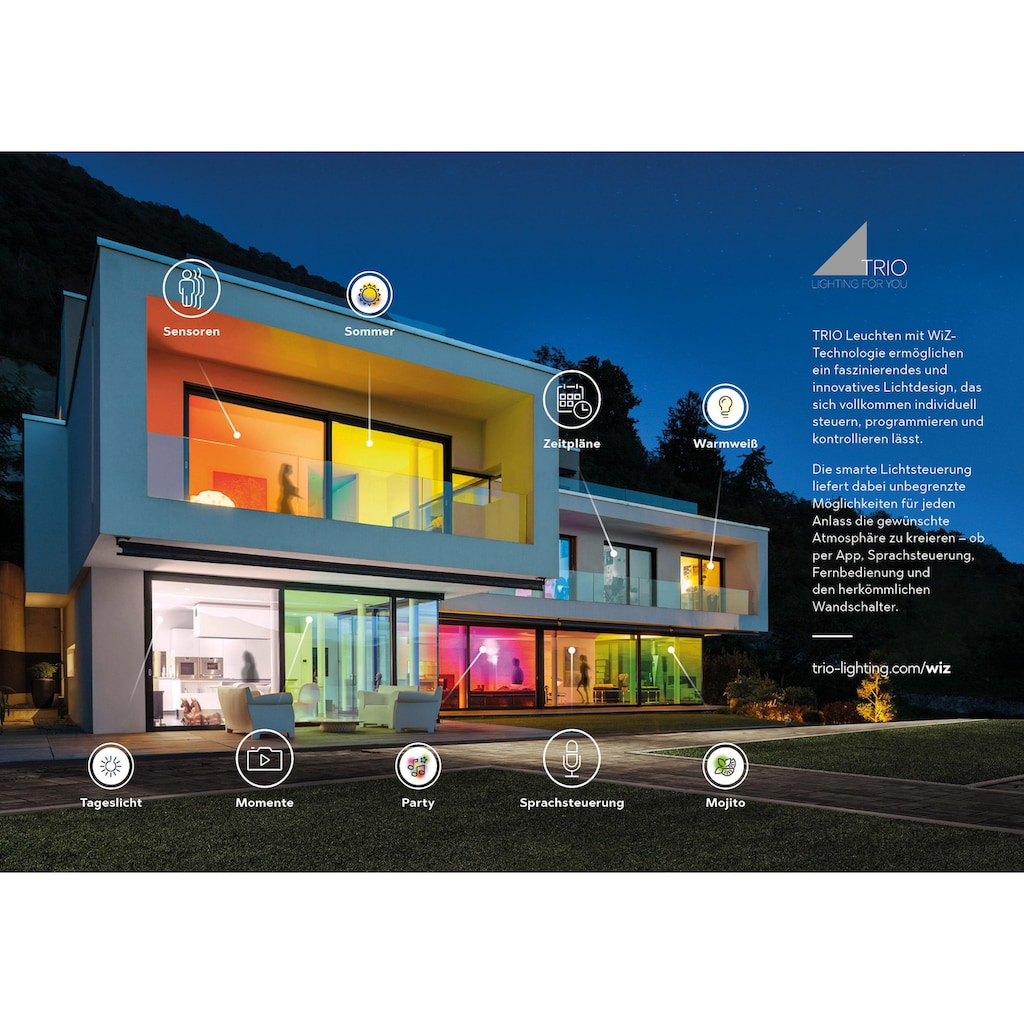 TRIO Leuchten LED Deckenleuchte »LIVARO«, LED-Board, Warmweiß-Neutralweiß, Mit WiZ-Technologie für eine moderne Smart Home Lösung