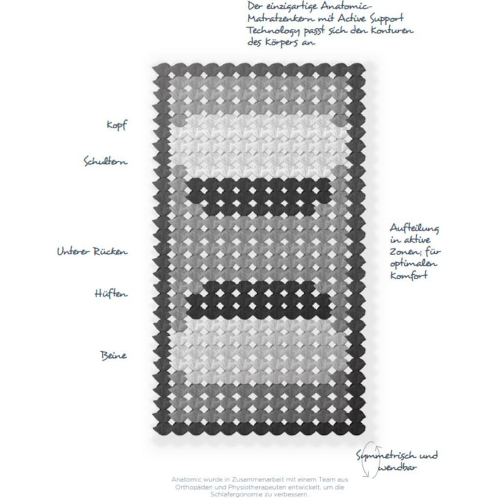 Revor Bedding Taschenfederkernmatratze »Kashmir Anatomic 3000 Gelpulse«, 28 cm cm hoch, 3000 Federn, (1 St.), Die Neuerfindung des Federkerns nach einem anatomischen Muster!