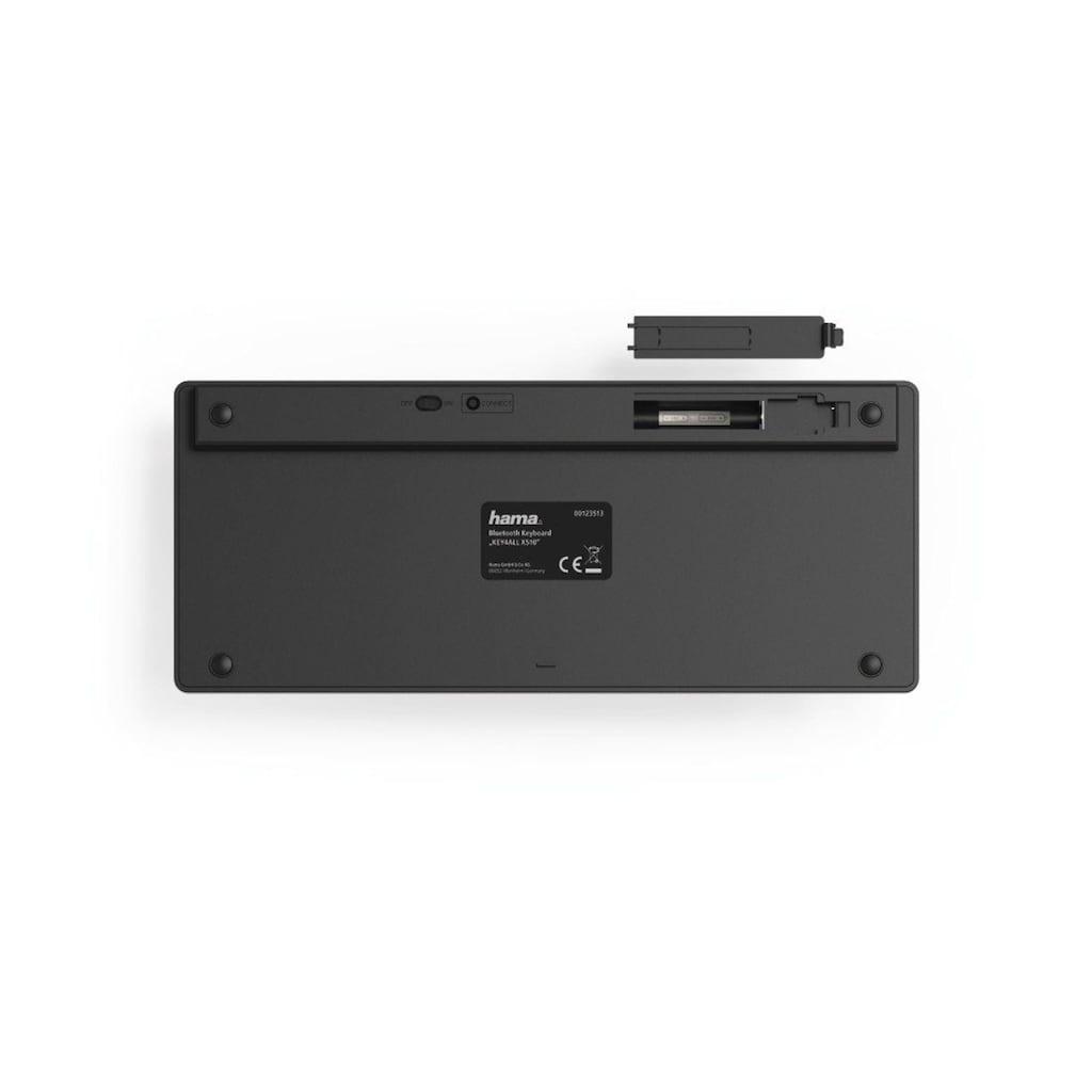 "Hama Bluetooth-Tastatur ""KEY4ALL X510"", Schwarz"