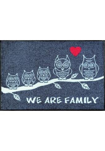 wash+dry by Kleen-Tex Fußmatte »We are Family«, rechteckig, 7 mm Höhe,... kaufen
