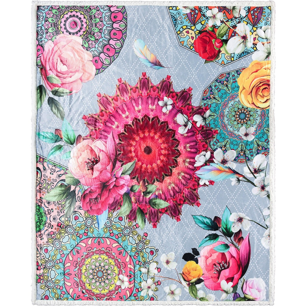 hip Plaid »Siara«, mit Mandalas und Rosenblüten