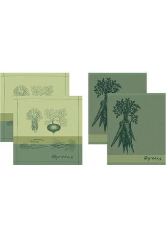 DDDDD Geschirrtuch »Greens«, (Set, 4 tlg., Combi-Set: bestehend aus 2x Küchentuch + 2x... kaufen