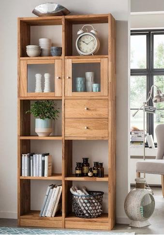 Premium collection by Home affaire Standregal, aus massiver Wildeiche, mit vielen... kaufen