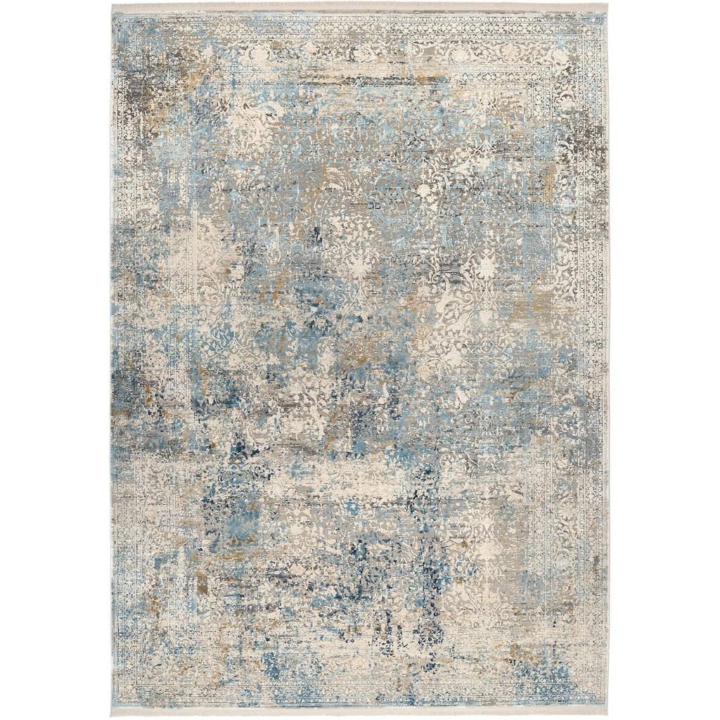 OCI DIE TEPPICHMARKE Teppich »BESTSELLER CAVA«, rechteckig, 8 mm Höhe, Glanz Viskose, mit Fransen, Wohnzimmer