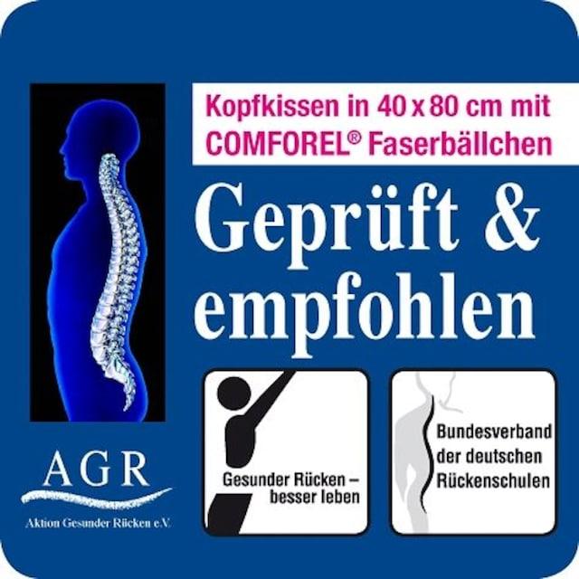 Kunstfaserkopfkissen, »Gütesiegel AGR - Aktion gesunder Rücken«, f.a.n. Frankenstolz