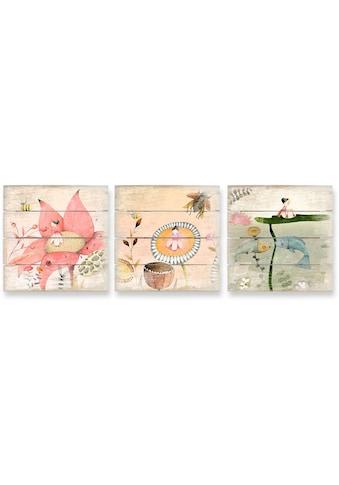 Wall-Art Mehrteilige Bilder »Kinder Märchen Däumelinchen Set«, (Set, 3 St.) kaufen