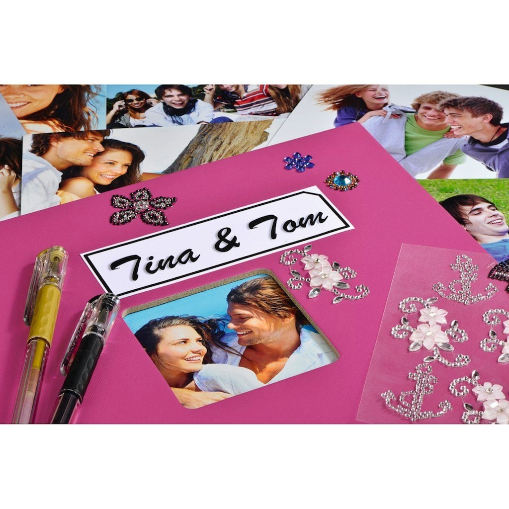 """Hama Fotoalbum »Fotoalbum zum einkleben Pink«, 24 x 17 cm, 50 Seiten, Photoalbum """" Fine Art"""
