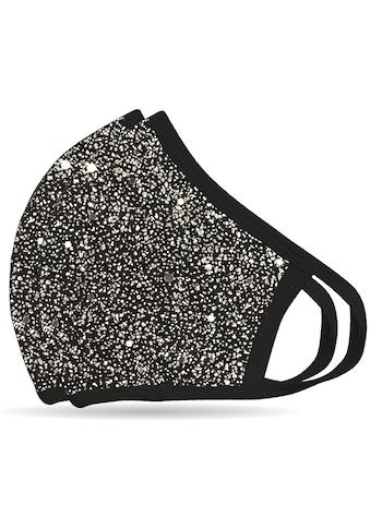 """NEQI Mund - Nasen - Masken """"Silber Glitzer"""" (Packung, 2 - teilig) kaufen"""
