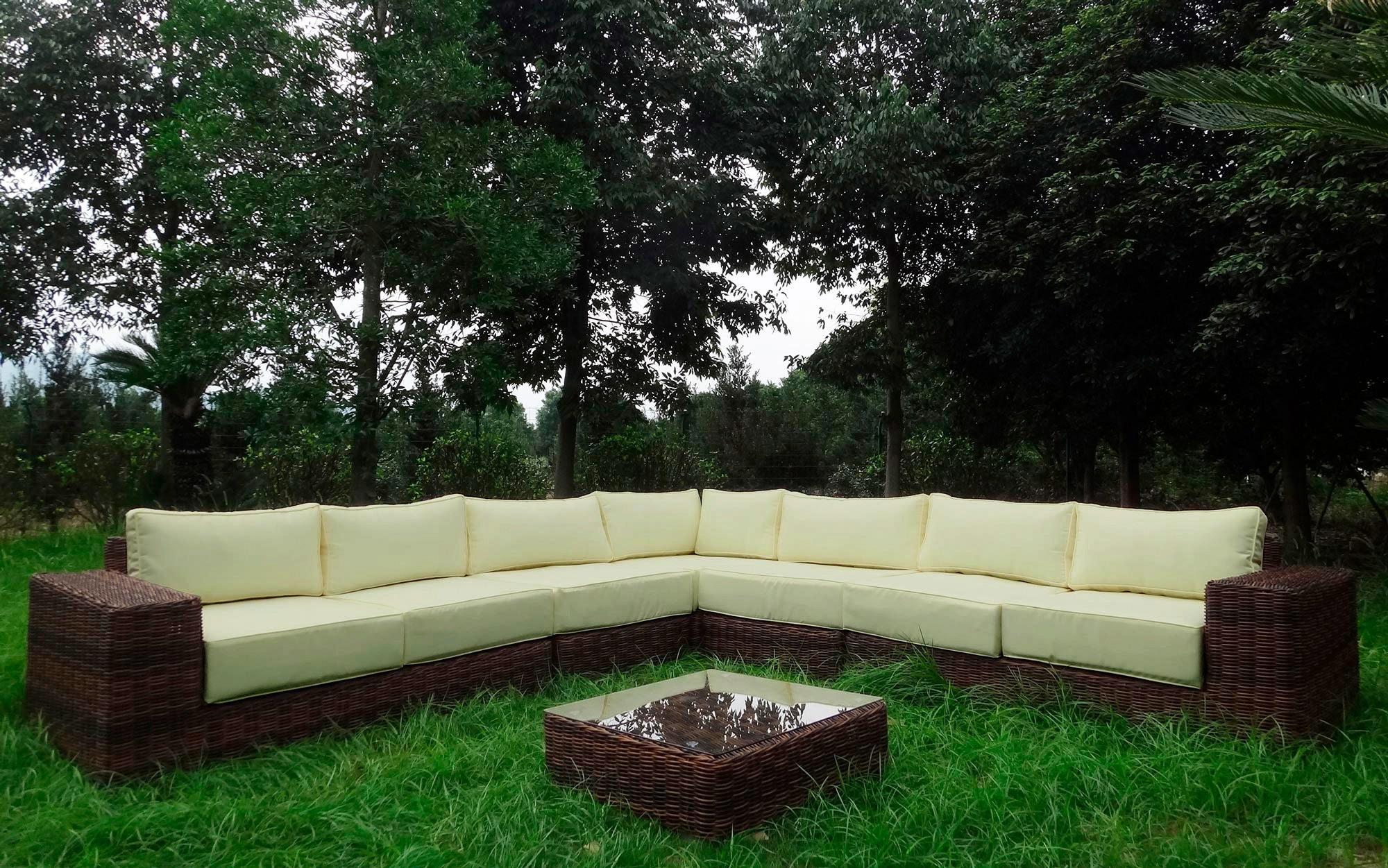 BAIDANI Loungeset »Sensation«, 20-tlg., Ecklounge, Tisch 67x67x40 cm, Polyrattan | Garten > Gartenmöbel > Gartenmöbel-Set | Braun | Polyrattan | BAIDANI