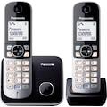 Panasonic Schnurloses DECT-Telefon »KX-TG6812GB«, ( ), mit Anrufer- und Wahlsperre
