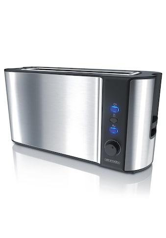 Arendo Automatik 2 Scheiben Langschlitz Toaster im Edelstahl Design »Frukost Silver« kaufen
