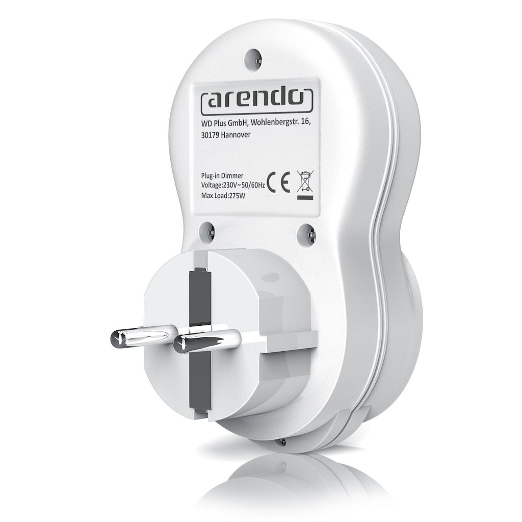 Arendo Glühlampen Steckdosen Dimmer mit Drehregler »für Glühbirnen mit 20 bis 275 Watt geeignet«