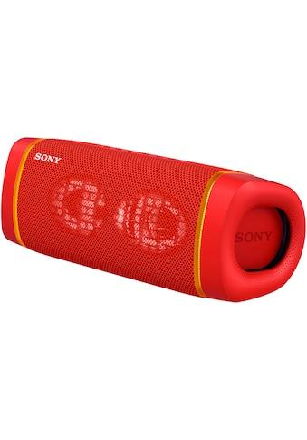 Sony Bluetooth-Lautsprecher »SRS-XB33 tragbarer, kabelloser«, Mehrfarbige Lichtleiste,... kaufen