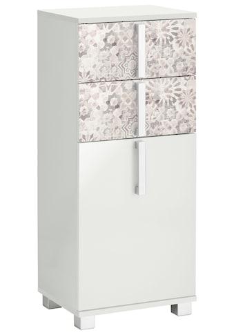 Schildmeyer Unterschrank »Kampen«, Breite 40 cm, Badezimmerschrank mit Metallgriffen, Tür mit Soft-Close-Funktion, wechselbarer Türanschlag und 2 praktische Schubladen kaufen