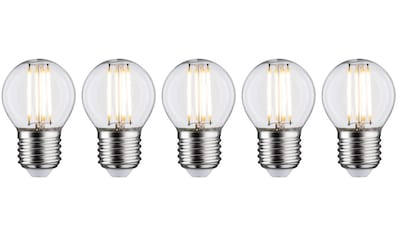 Paulmann LED-Filament »5er Pack 5W Tropfen E27 2700K klar«, E27, 5 St., Warmweiß kaufen
