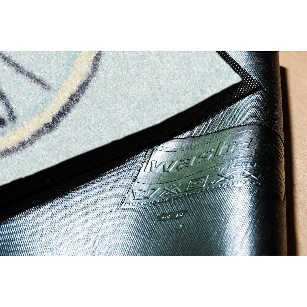 wash+dry by Kleen-Tex Fußmatte »Daisy Daisy«, rechteckig, 7 mm Höhe, Schmutzfangmatte, In- und Outdoor geeignet, waschbar