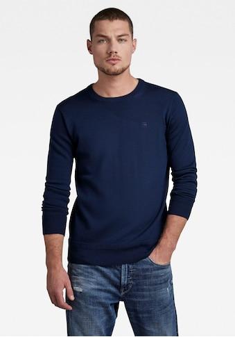 G-Star RAW Rundhalspullover »Premium Basic Knit« kaufen