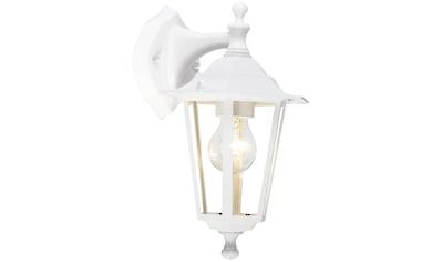 Brilliant Leuchten Außen-Wandleuchte, E27, Crown Außenwandleuchte hängend weiß kaufen