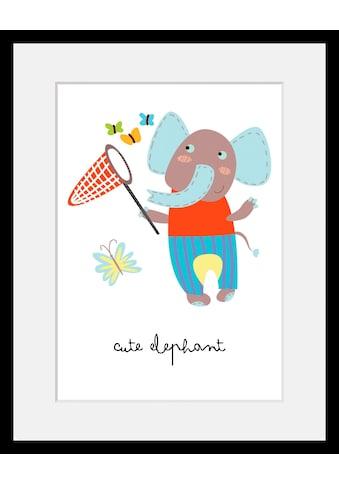 Home affaire Bild »Elefant«, mit Rahmen kaufen
