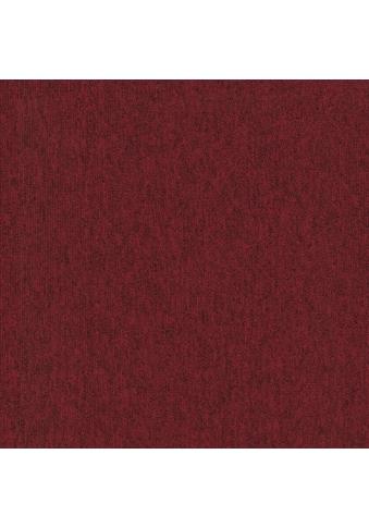 Teppichfliese »Neapel«, quadratisch, 6 mm Höhe, rot, selbstliegend kaufen