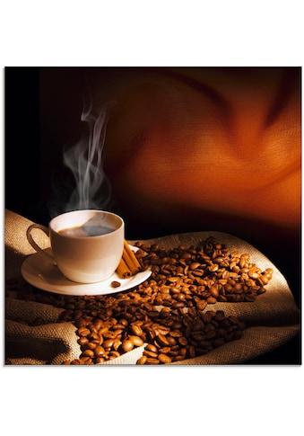 Artland Glasbild »Dampfende Tasse Kaffee«, Getränke, (1 St.) kaufen
