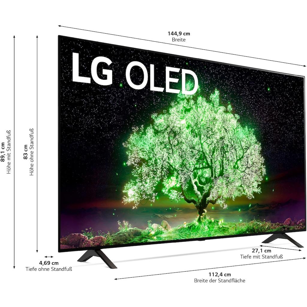 "LG OLED-Fernseher »OLED65A19LA«, 164 cm/65 "", 4K Ultra HD, Smart-TV, (bis zu 60Hz)-α7 Gen4 4K AI-Prozessor-Sprachassistenten-Dolby Vision IQ™-Dolby Atmos®"
