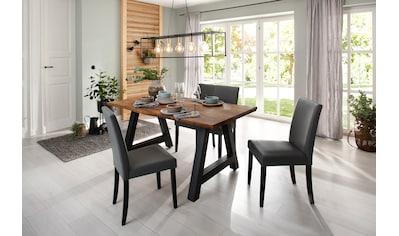 Home affaire Esstisch »Niebüll«, mit einem Metallgestell, Tischplatte in schöner... kaufen