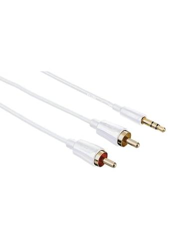 Hama Hama Audio - Kabel, 3,5 - mm - Klinken - St. Stereo  -  2 Cinch - St »1,5m« kaufen