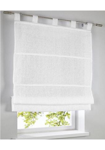 Kutti Raffrollo »Metis Leinen«, mit Schlaufen, freihängend, 100% reines Leinen kaufen