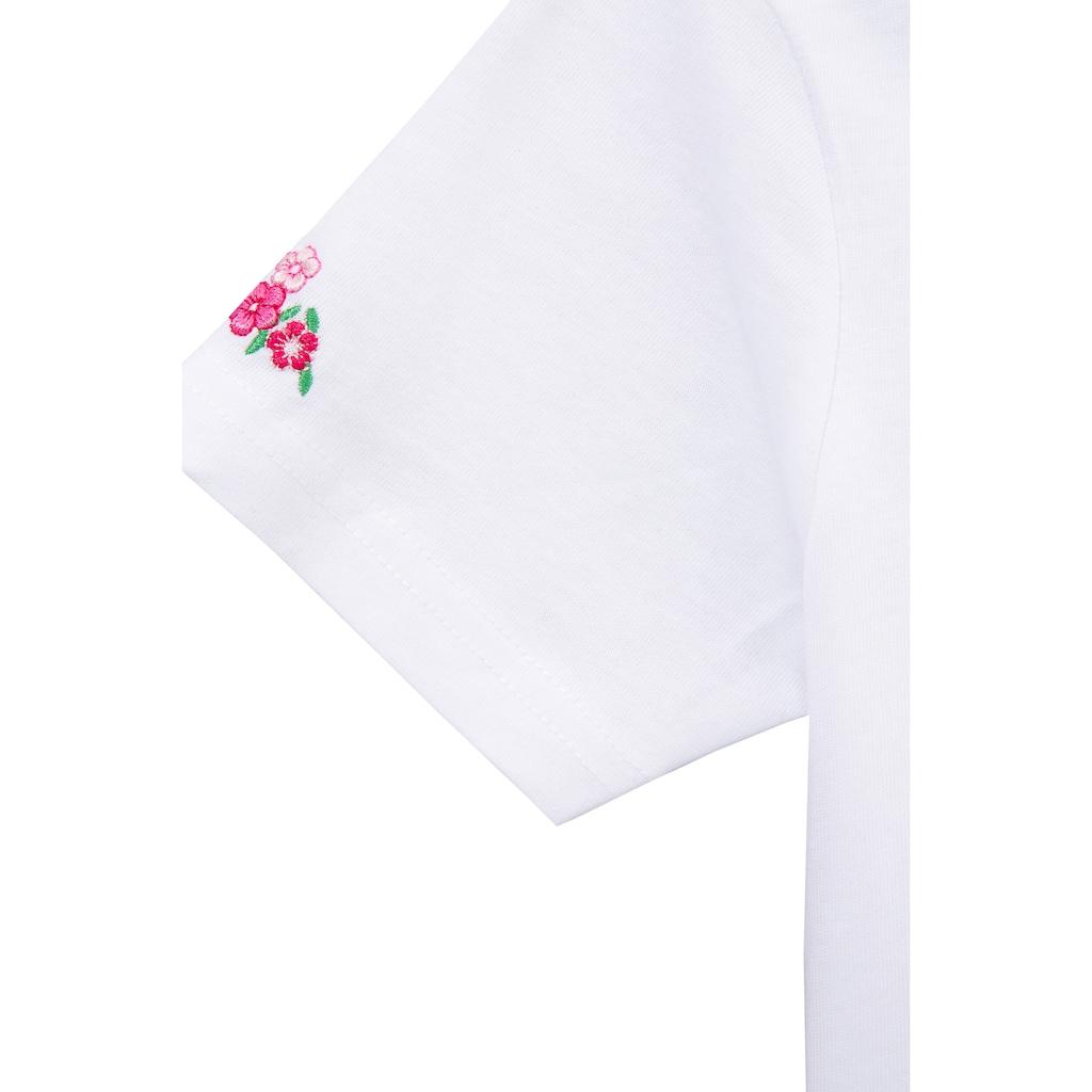 Isar-Trachten Trachtenshirt, Kinder, mit Reh Applikation