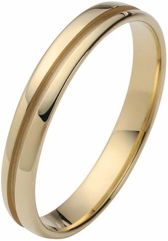 Firetti Trauring mit Gravur »3,5 mm, glanz, Rille im Diamantschnitt, Gelbgold« kaufen