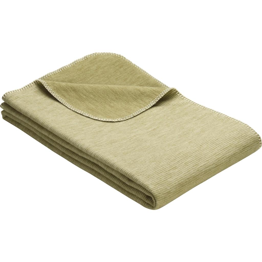 IBENA Wohndecke »Lausanne«, GOTS zertifiziert - nachhaltig aus Bio-Baumwolle