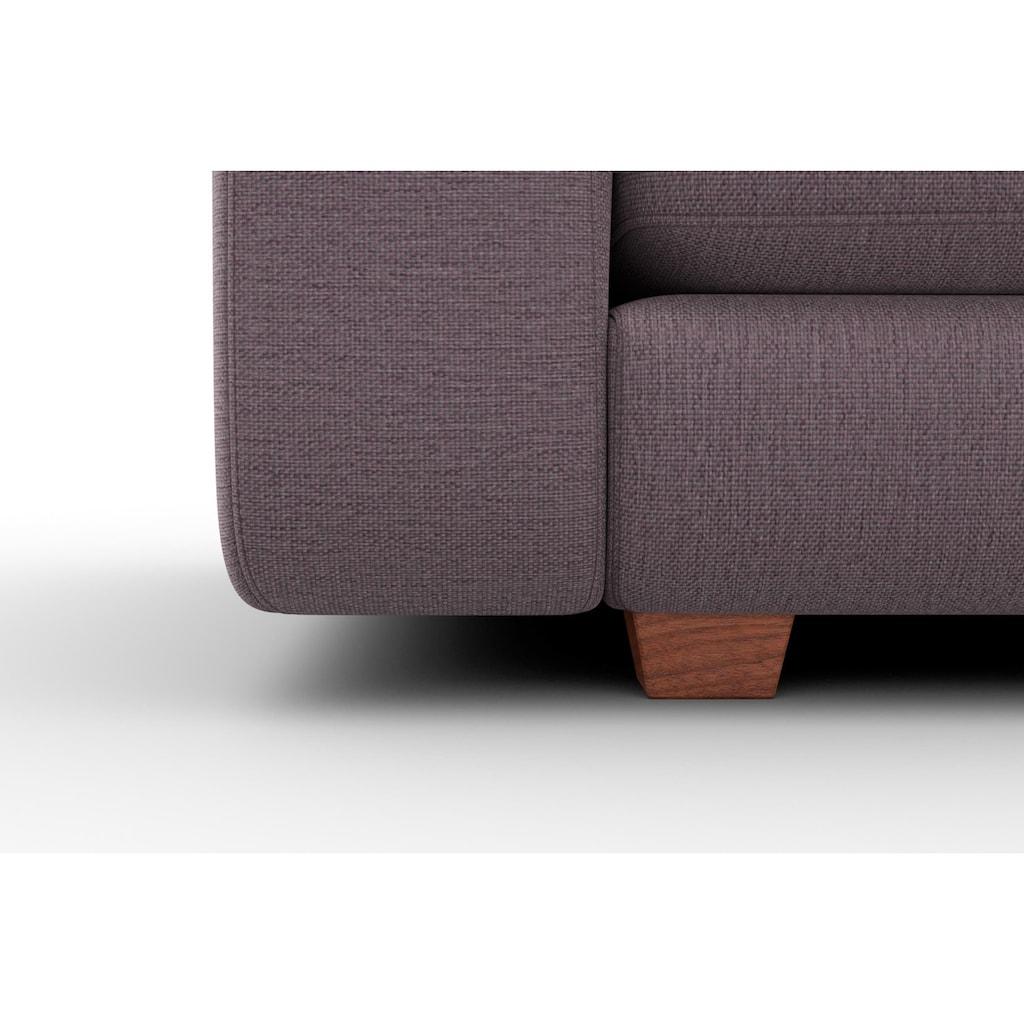 machalke® 2,5-Sitzer »valentino«, mit breiten Armlehnen, Füße Walnuss, Breite 191 cm