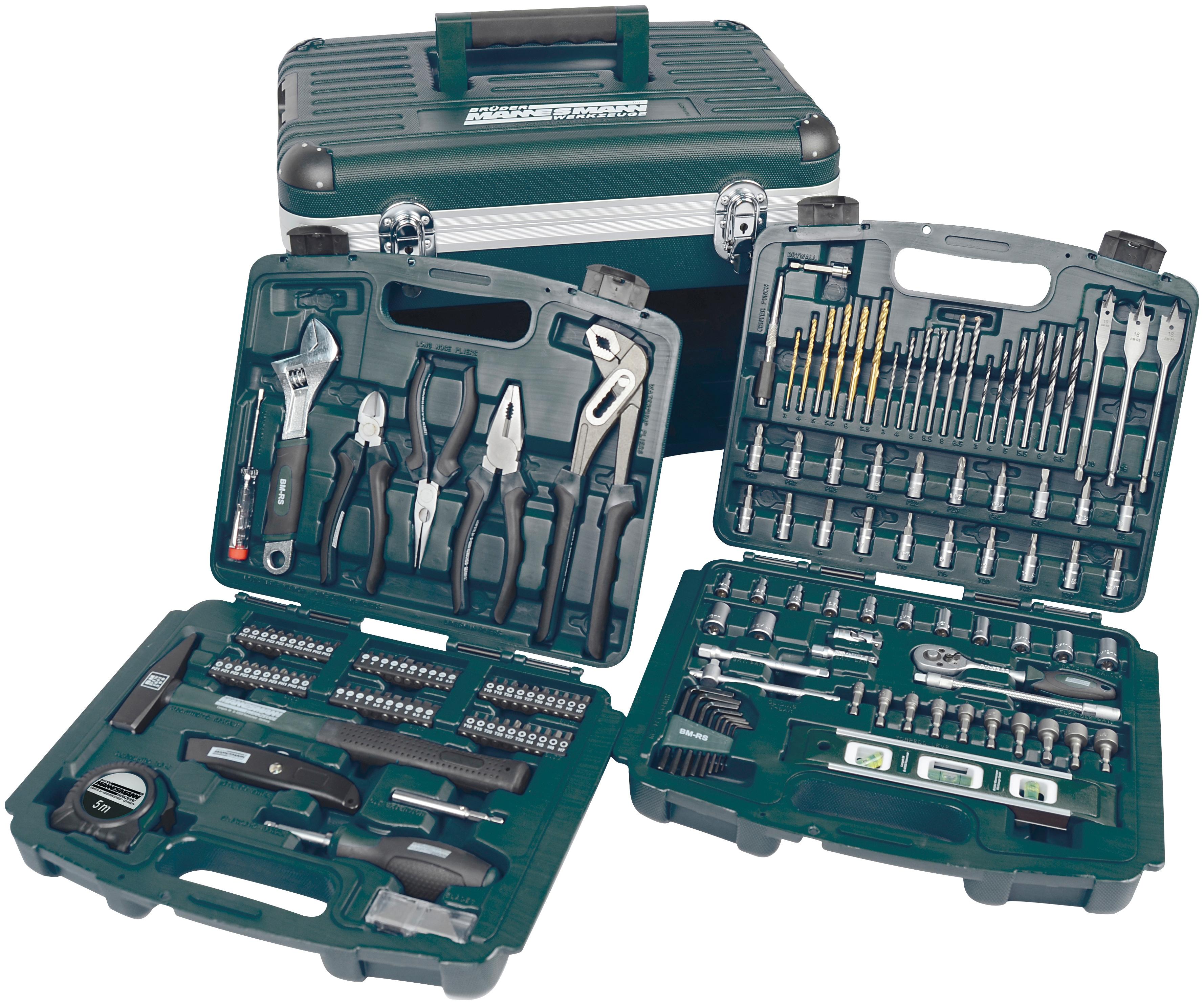 Brueder Mannesmann Werkzeuge Werkzeugbox »163-tlg.« | Baumarkt > Werkzeug > Werkzeug-Sets | Grün | Holz | BRUEDER MANNESMANN WERKZEUGE