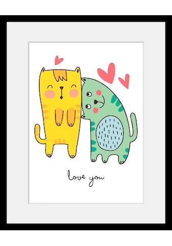 Home affaire Bild »Love you«, mit Rahmen kaufen
