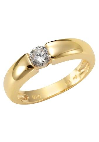 Firetti Silberring »Spannring - Optik, glänzend vergoldet, klassisch« kaufen