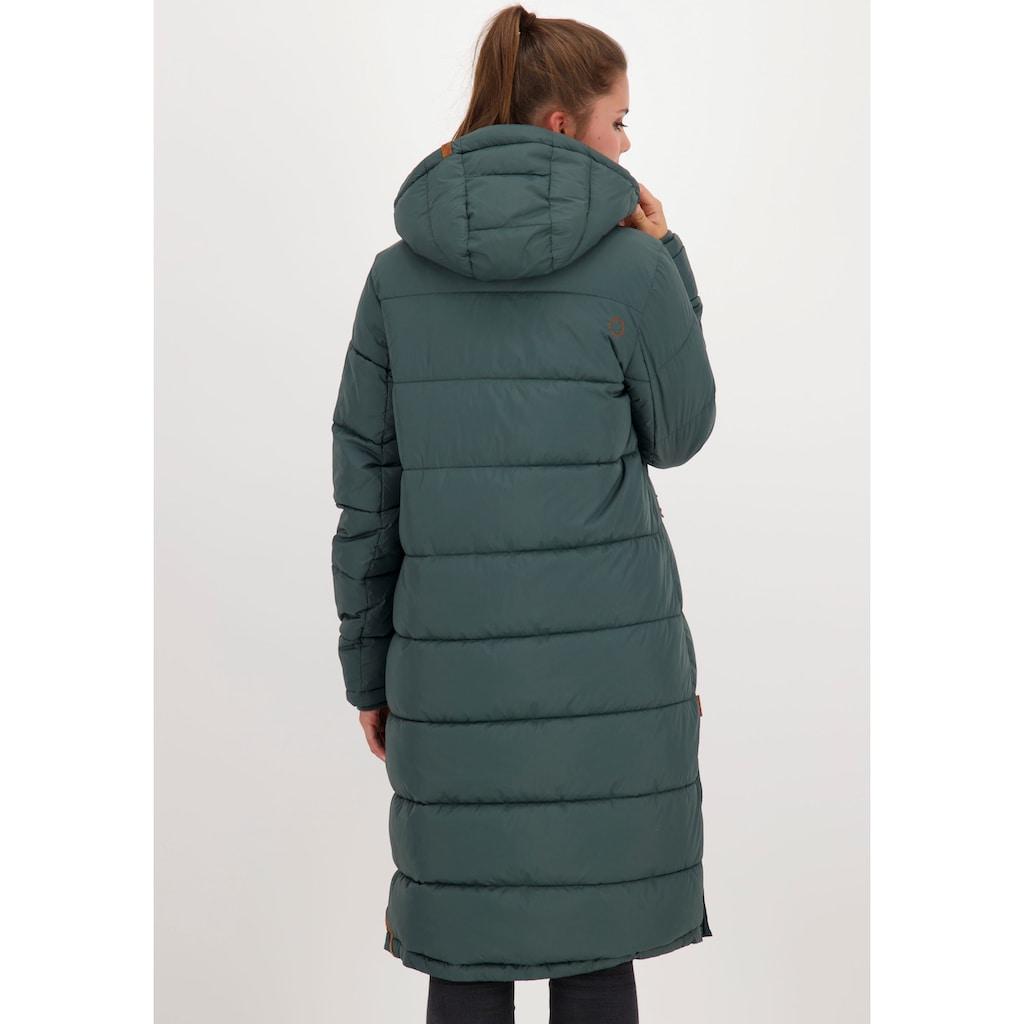 Alife & Kickin Steppjacke »JunaAK«, langer oversized Wintermantel mit Two-Way-Zipper