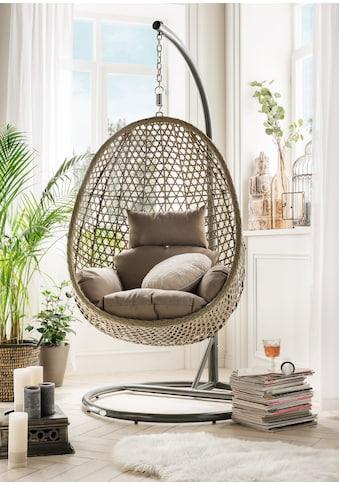 Destiny Hängestuhl »Cocoon De Luxe«, Polyrattan/Stahl, inkl. Sitz- und Rückenkissen kaufen