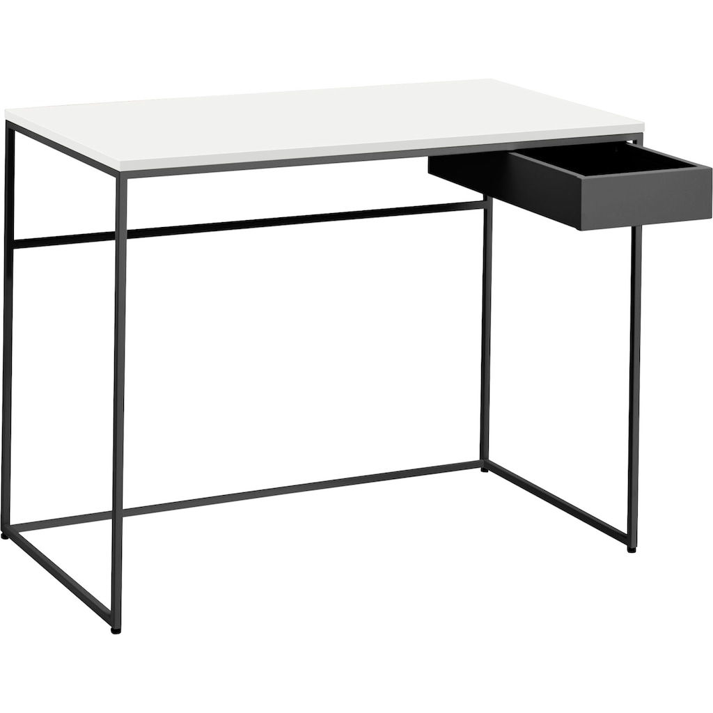 now! by hülsta Schreibtisch »CT 17«, mit Schublade und grauem Gestell