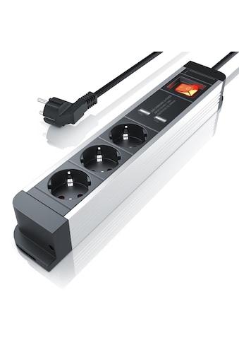 Arendo 3 - fach Steckdosenleiste mit 2x USB - Ports (2000mA / 5V) »integrierter Kinderschutz/ 1,5m« kaufen