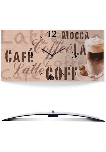 Artland Wanduhr »Kaffee  -  Latte Macchiato« kaufen