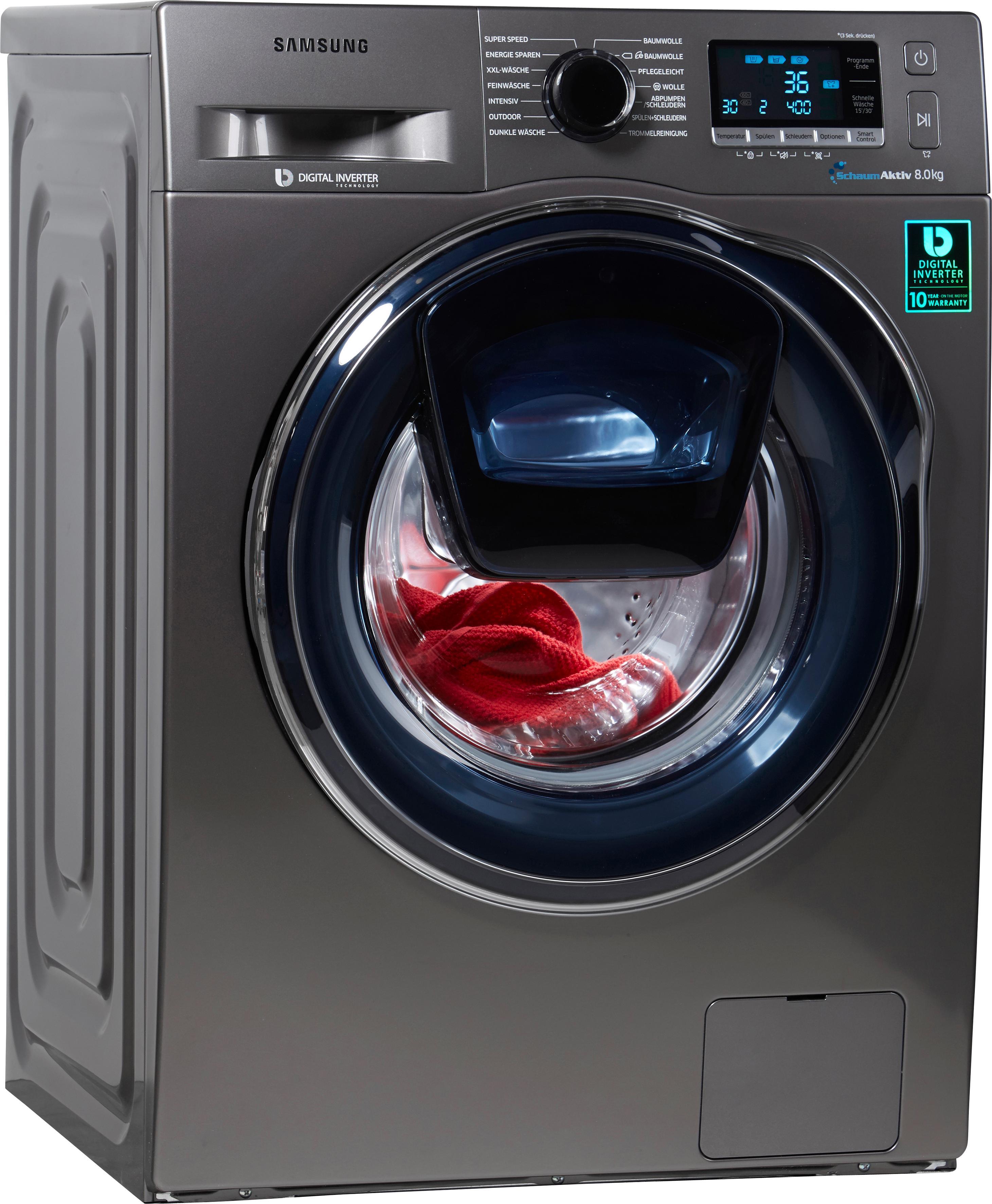 Samsung Waschmaschine AddWash WW6500 WW80K6404QX/EG | Bad > Waschmaschinen und Trockner > Frontlader | Samsung