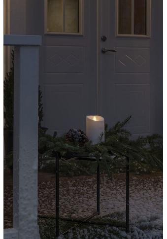 KONSTSMIDE LED-Kerze, LED Kerze cremeweiß, mit 3D Flamme und geschmolzener Kante kaufen