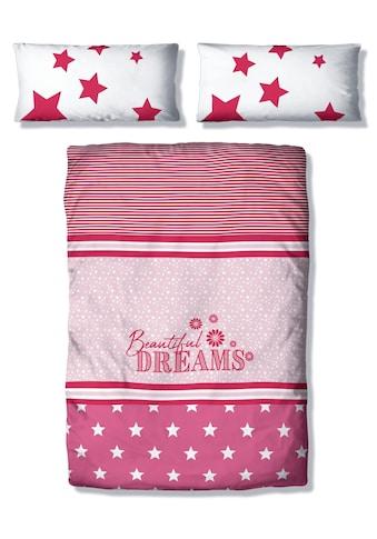 Lüttenhütt Kinderbettwäsche »Astro«, mit Sternen und Streifen kaufen