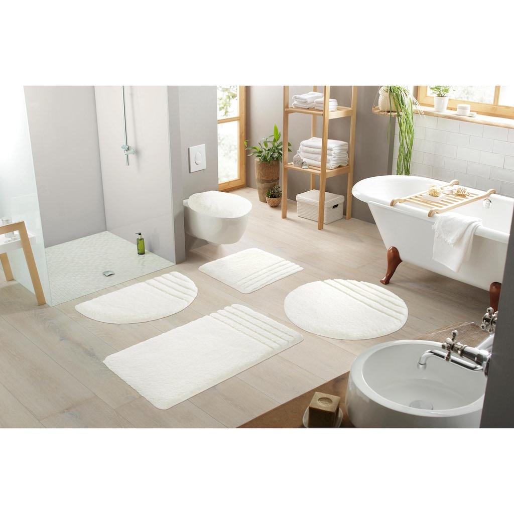 Möve Badematte »Loft«, Höhe 30 mm, fußbodenheizungsgeeignet-strapazierfähig, rutschhemmender Rücken