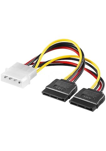 Goobay PC Y Stromkabel »5.25 Stecker zu 2x SATA« kaufen