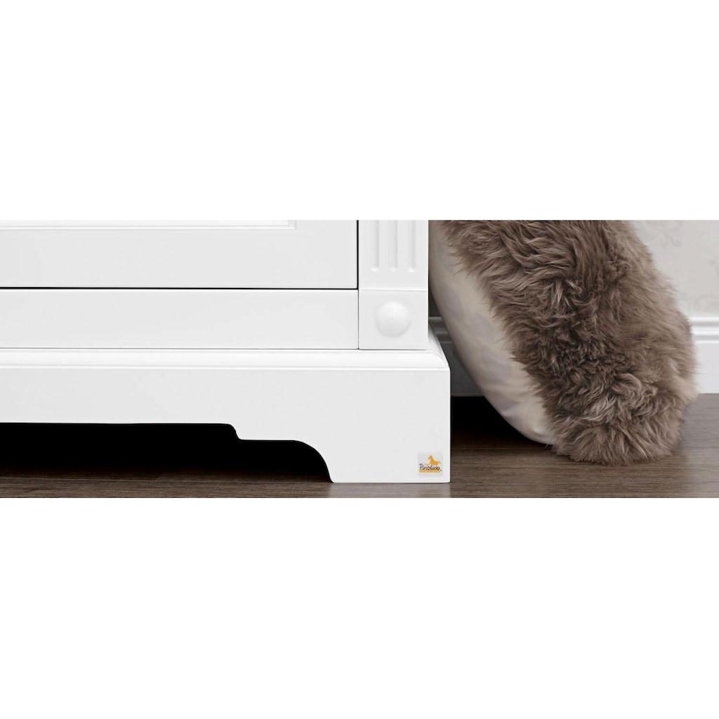 Pinolino® Babyzimmer-Komplettset »Emilia«, (Set, 3 St.), extrabreit; mit Kinderbett, Schrank und Wickelkommode