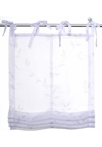 Raffrollo »Fiorella«, Kutti, mit Bindebänder kaufen
