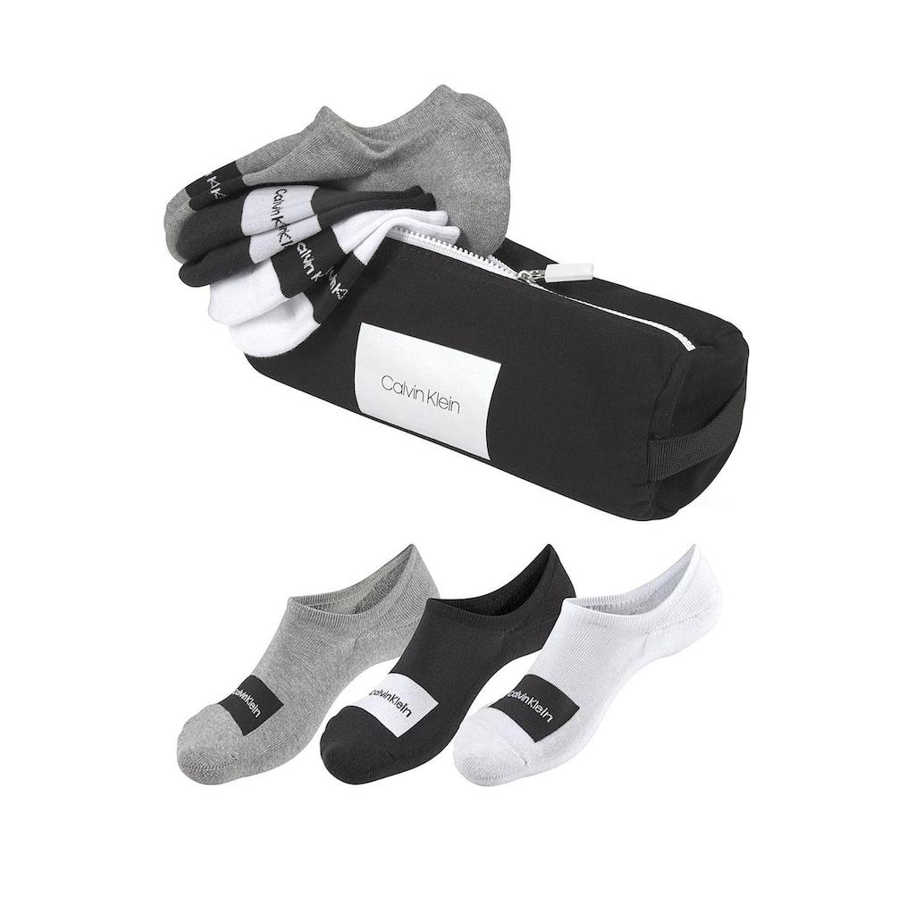 Calvin Klein Füßlinge, (Beutel, 3 Paar), mit Markenschriftzug