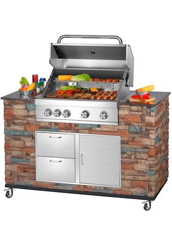 El Fuego Gasgrill »Grillküche Built-in«, BxTxH: 147x68x130 cm kaufen